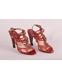 Sandales - cerise