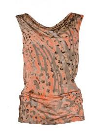 Haut col benitier - orange & gris