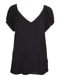 tee shirt manches courtes - noir