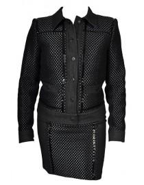 Ensemble veste jupe - noir & gris